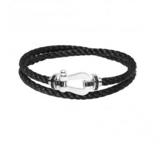 Bracelet Force 10, or gris, diamants noirs Fred