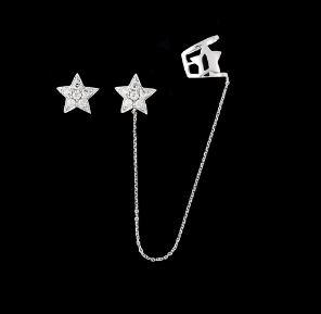 Boucles d'oreilles Etoiles Diamants
