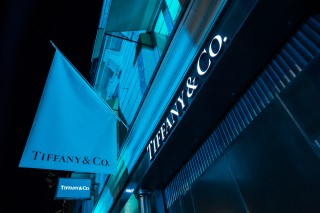 Inauguration Tiffany & Co Champs Elysées Mardi 10 Juin 2014 - Magasin illuminé du Bleu Tiffany