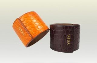 bracelet en peau de crocodile Yees