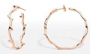 Boucle d'oreilles Bois de Rose Dior Joaillerie