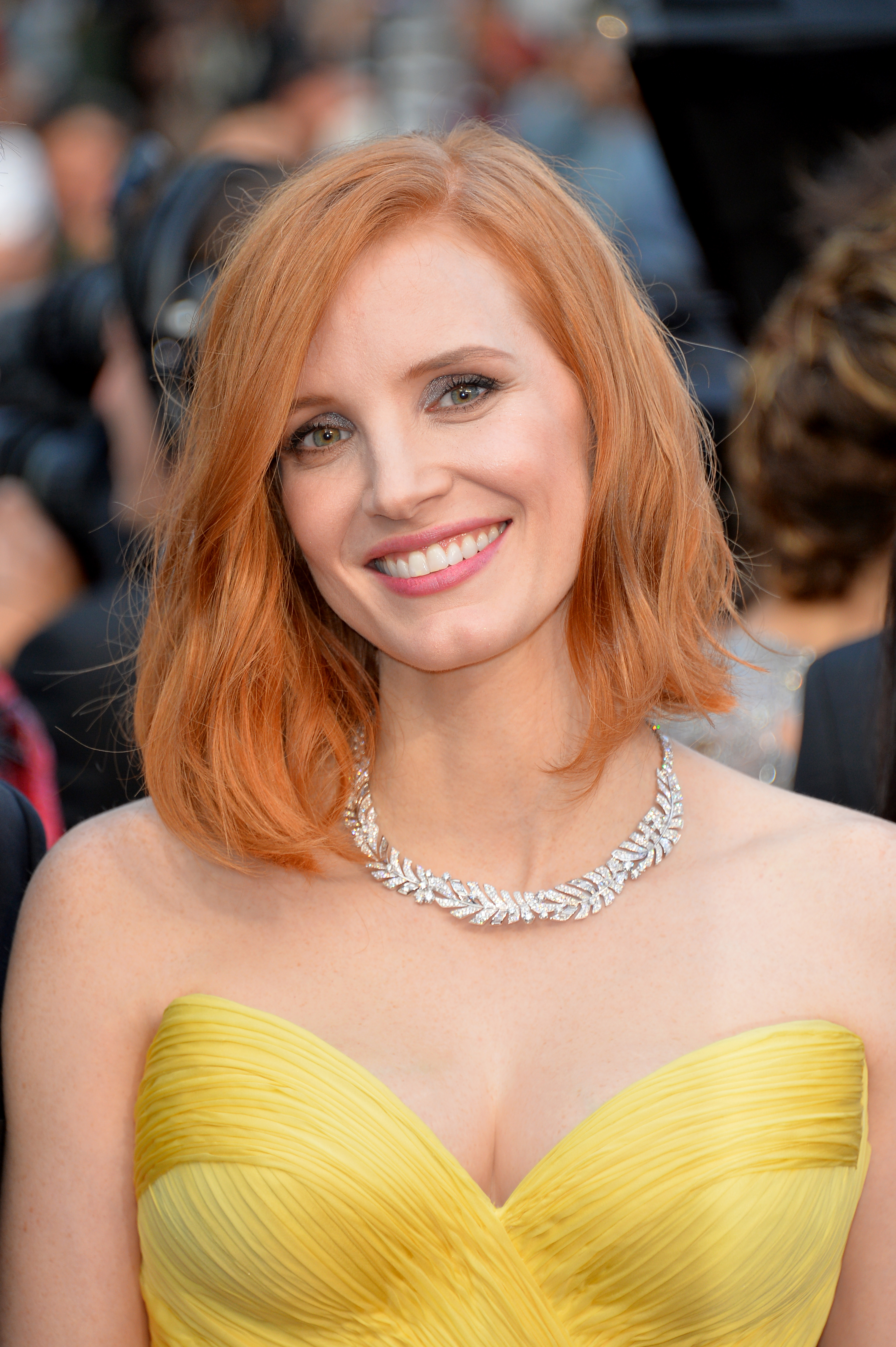 Jessica Chastain attends the opening ceremony and premiere of 'Cafe Society' during the 69th Cannes Film Festival