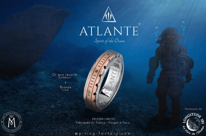 Bague Atlante de my ring factory