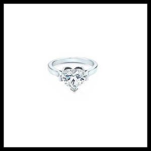 Bague Diamant Taille Coeur Tiffany