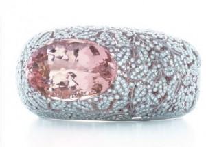 Bracelet Diamants, Morganite Rose, 74 carats Tiffany & co