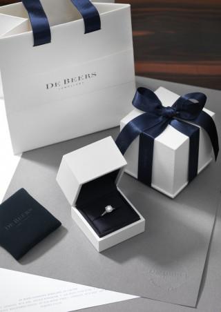 Bague de fiançailles sur mesure De Beers