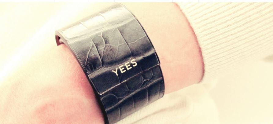 Bracelets Yees croco noir