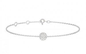 Bracelet Collection Pop, Or blanc, pavage 19 diamants