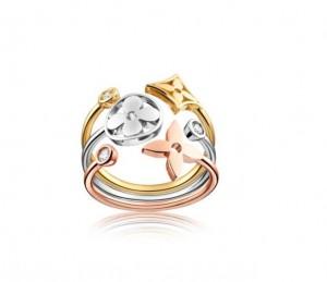 Bague Monogram Trois Or et Diamants Louis Vuitton