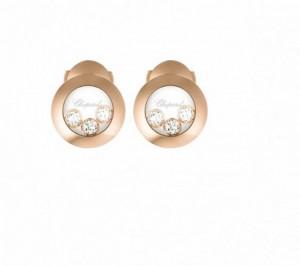 Boucles d'Oreilles Happy Diamonds or Rose Chopard