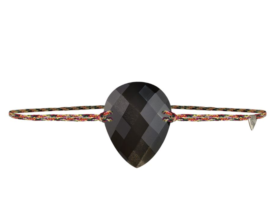 Bracelet cordon Amazone - Poire petit modèle - Pierre de Lune LAYONE